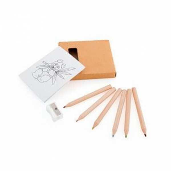 Набор из 6 карандашей, c  раскраской и точилкой