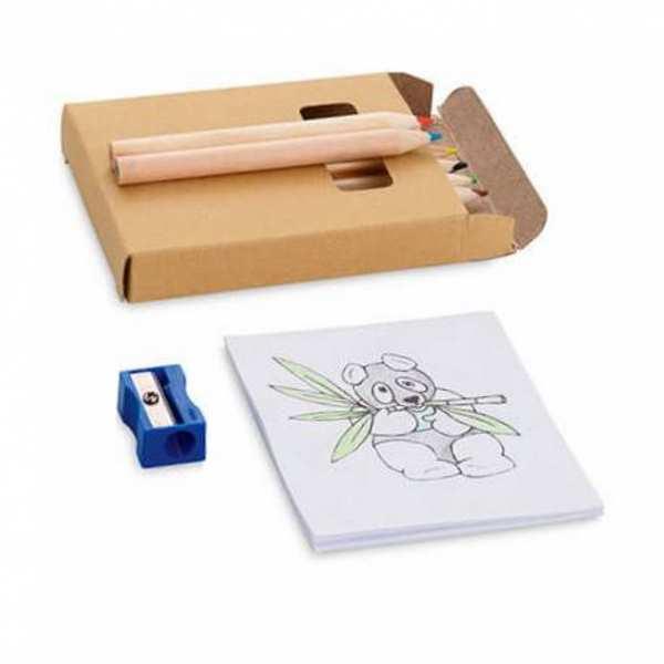 Набор для рисования Коул: 6 карандашей, раскраска, точилка