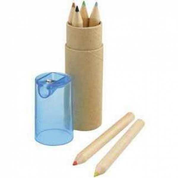 Набор Стук: 6 карандашей в картонном тубусе с крышкой-точилкой