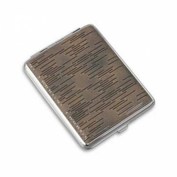 Портсигар металлический S.Quire с кожей