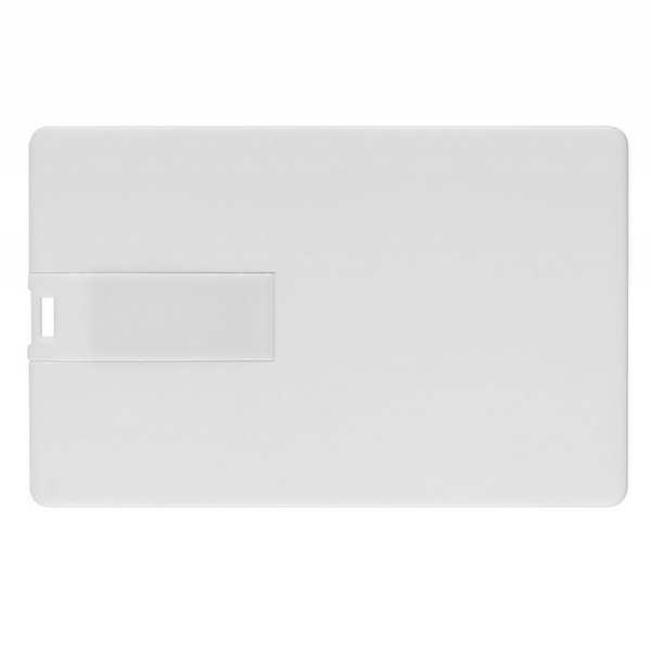 Флешка-визитка пластиковая, 8 Гб