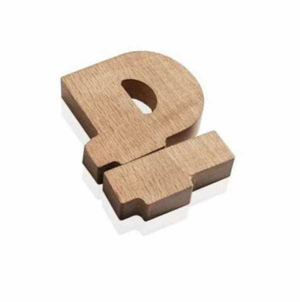 Флешка Деревянная Символ рубля