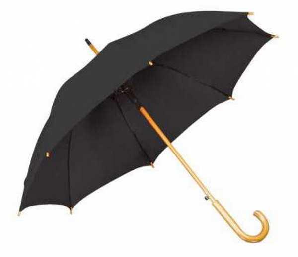 Зонт-трость, деревянная изогнутая ручка, полуавтомат