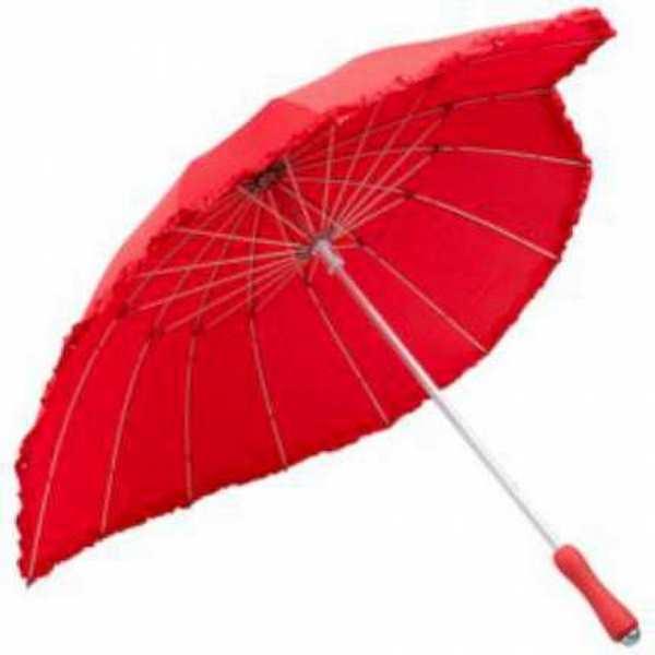 Зонт-трость Heart, красный