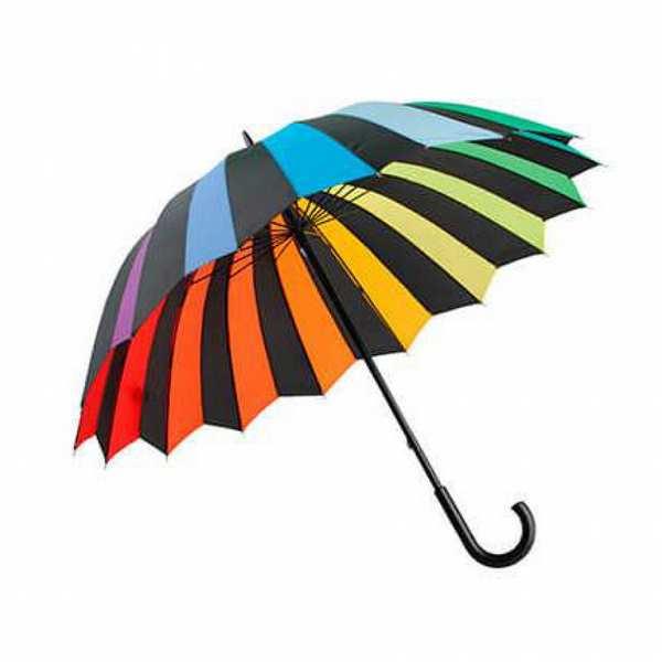 Зонт-трость Спектр радуги, механический