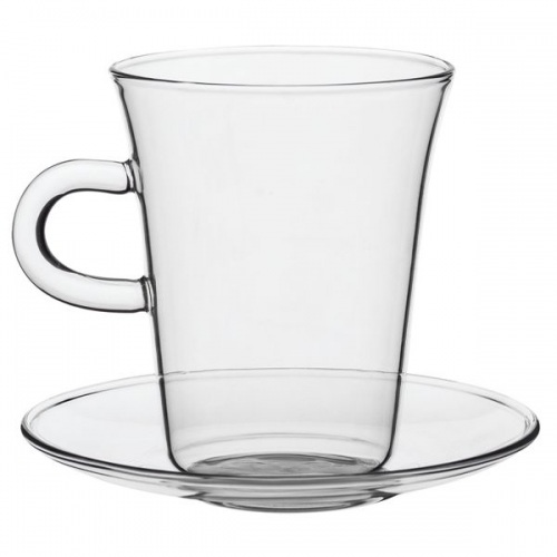 Чашка с блюдцем Glass Duo