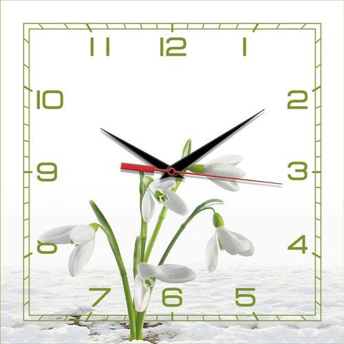 Часы настенные стеклянные Таймс Сквер